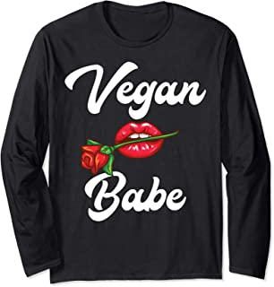 Vegan Babe Animal Rights Protection Plant Based Lover Gift Long Sleeve T-Shirt