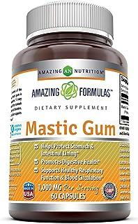 Amazing Formulas Mastic Gum 1000 mg Per Serving 60 Capsules -(Non GMO,Gluten Free)-..