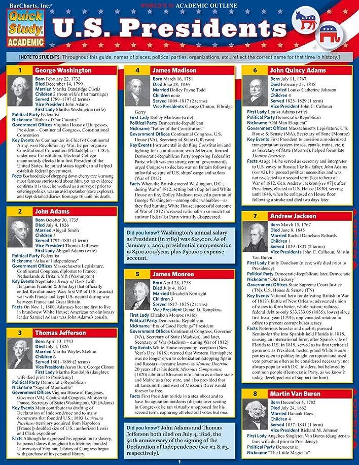 床幻想的評議会U.S. Presidents (Quick Study Academic) (English Edition)