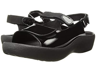 Wolky Jewel (Black Patent Leather) Women
