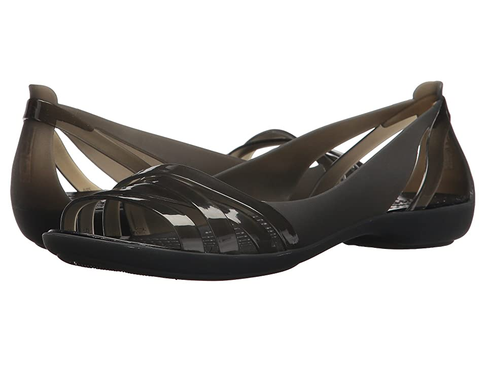 Crocs Isabella Huarache 2 Flat (Black/Black) Women