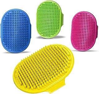 HUSHNOW Dog Hair Brush, with Adjustable Ring Handle Slicker Dog Brush, 4 Pack Dog Brush, Soothing Massage Rubber Comb, Su...