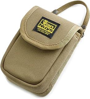 バンナイズ (VanNuys) SONY Cyber-shot RX100M6 / RX100M5 / RX100M4 / RX100M3 / RX100M2 / RX100 用 縦型 キャリング ケース < 帆布 の バッグ 用 ストラップ 付属 >(8号 帆布 製) カーキグレー