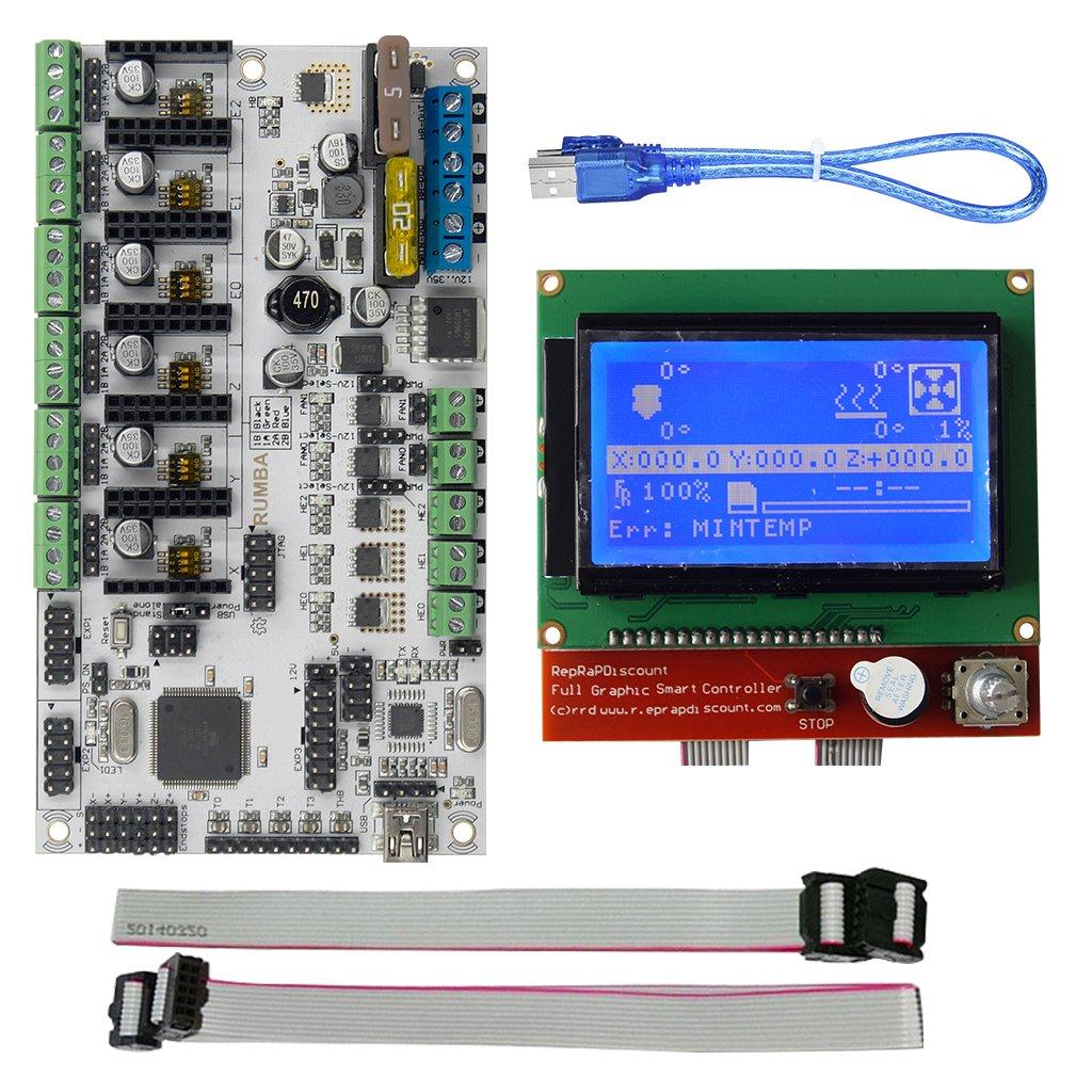 SM SunniMix Placa Base Rumba Plus Pantalla 12864 USB con Cable ...