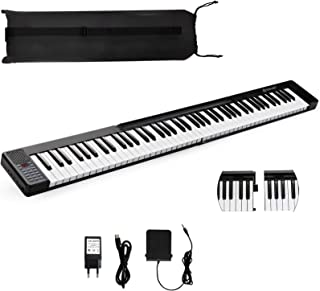 Costzon 88 Key Attachable Electric Piano Keyboard, Portable