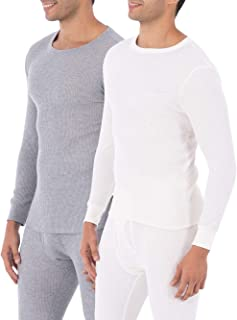 Men's Classic Midweight Waffle Thermal Underwear Crew Top...