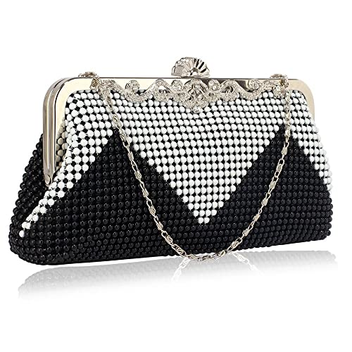 1646da0fd5 Beaded clutch Purse Bag For Womens Evening Handbag Designer Pearl New Style  Crystal With Chain
