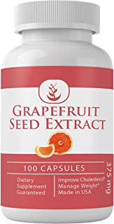 Grapefruit Seed Extract Capsules (100 Capsules, 375 mg per Serving) (1 Capsule/Serving) by Pure Organic Ingredients, 100% ...