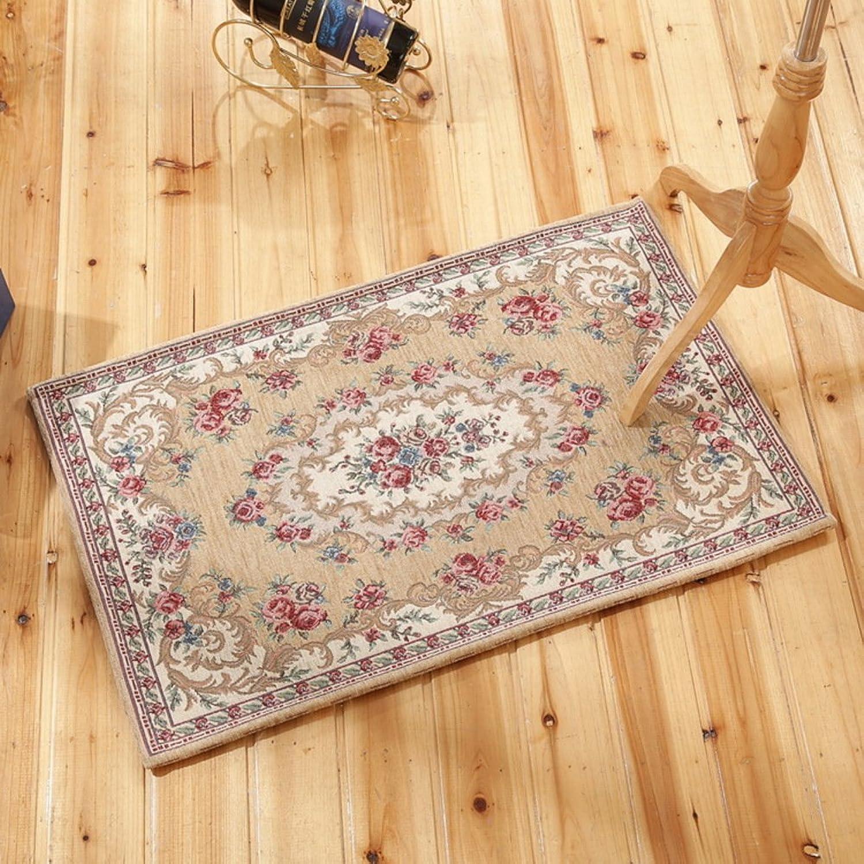 Living Room Indoor mats doormats European Household mats Bedroom Blanket for Bedroom Bathroom Water-Absorbing Non-sliping mats-G 90x140cm(35x55inch)