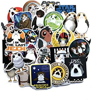 Decal Stickers 40 PCS Star Wars PORG Laptop Sticker Waterproof Vinyl Stickers Car Sticker Motorcycle Bicycle Luggage Decal Graffiti Patches Skateboard Sticker (PORG)