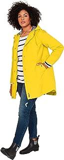 Ellos Women's Plus Size Snap-Front Hooded Raincoat