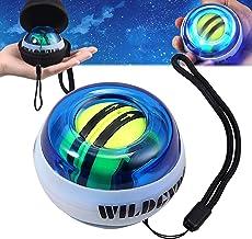 COLFULINE Energybal, gyroscopische handtrainer met led-licht, rotatiebal, pols- en handtrainer, autostart, gripkracht trai...