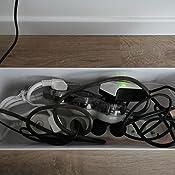 2.2cm /Ø et 1.6cm/Ø Flexible Range C/âble Mosotech 2x1.5M PE C/âble Rangement Organisateur de C/âble pour Ranger ou Cacher les c/âbles ,Gris Gaine pour c/âbles Cache Cable 2 Pack