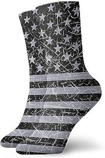Dydan Tne, Vintage USA Flag Retro American Flag Dress Calcetines Divertidos Crazy Socks Calcetines Casuales para niñas niños