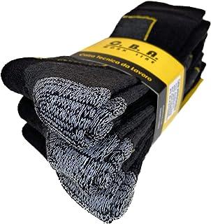 ITALIAN ENDURANCE calze calzini invernali da Lavoro Uomo -Termiche in Pile misto Lana con punta e tallone rinforzati,eleva...