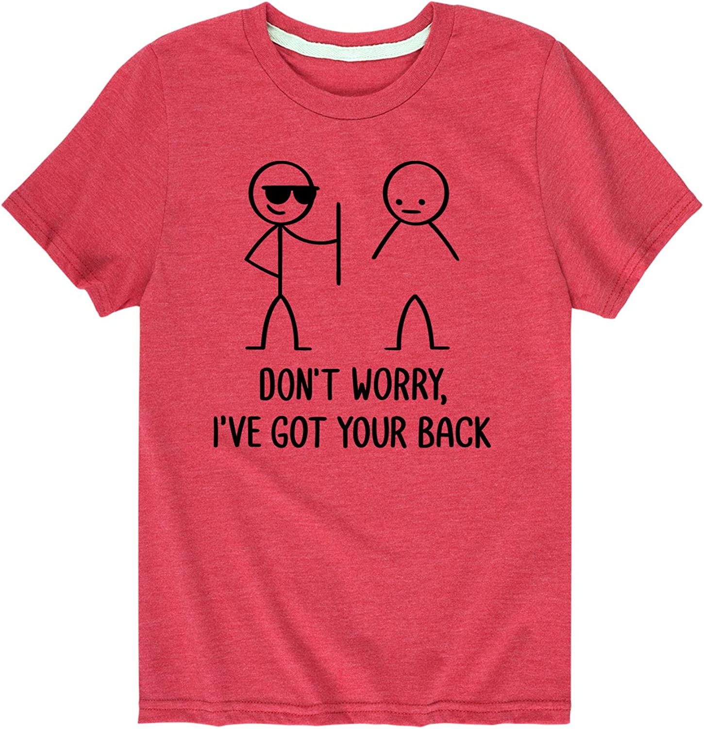 Instant Message Don't Worry Ive Got Your Back - Toddler and Youth Short Sleeve Graphic T-Shirt