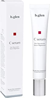b.glen Pure Vitamin C Serum | Multi-Functional Anti-Aging Serum with Ascorbic Acid from Japan. Minimizes Pore Size, Brighter Skin, Anti-Wrinkles, Fade Acne scars, and Redness, 15ml/0.5 fl. oz
