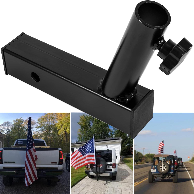 Yoursme Hitch Mount Flag Pole Holder Universal Flagpole Truck Br