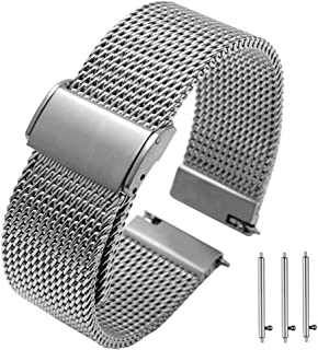 20mm 22mm Quick Release Premium Mesh Stainless Steel Watch Bands Strap for Men Women