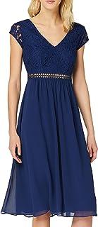 Amazon-Marke: TRUTH & FABLE Damen Midi Chiffon-Kleid mit A-Linie