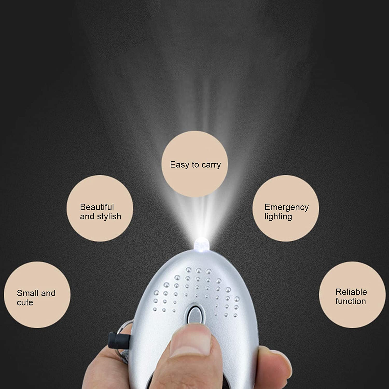 Somubi Personal Alarm for Women Safe Defence 130DB Sound Metallic Keyring with LED Flashlight Help Children Elderly