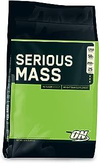 Optimum Nutrition シリアスマス (5.4kg) ( Serious Mass 12lbs ) チョコレート【海外直送品】