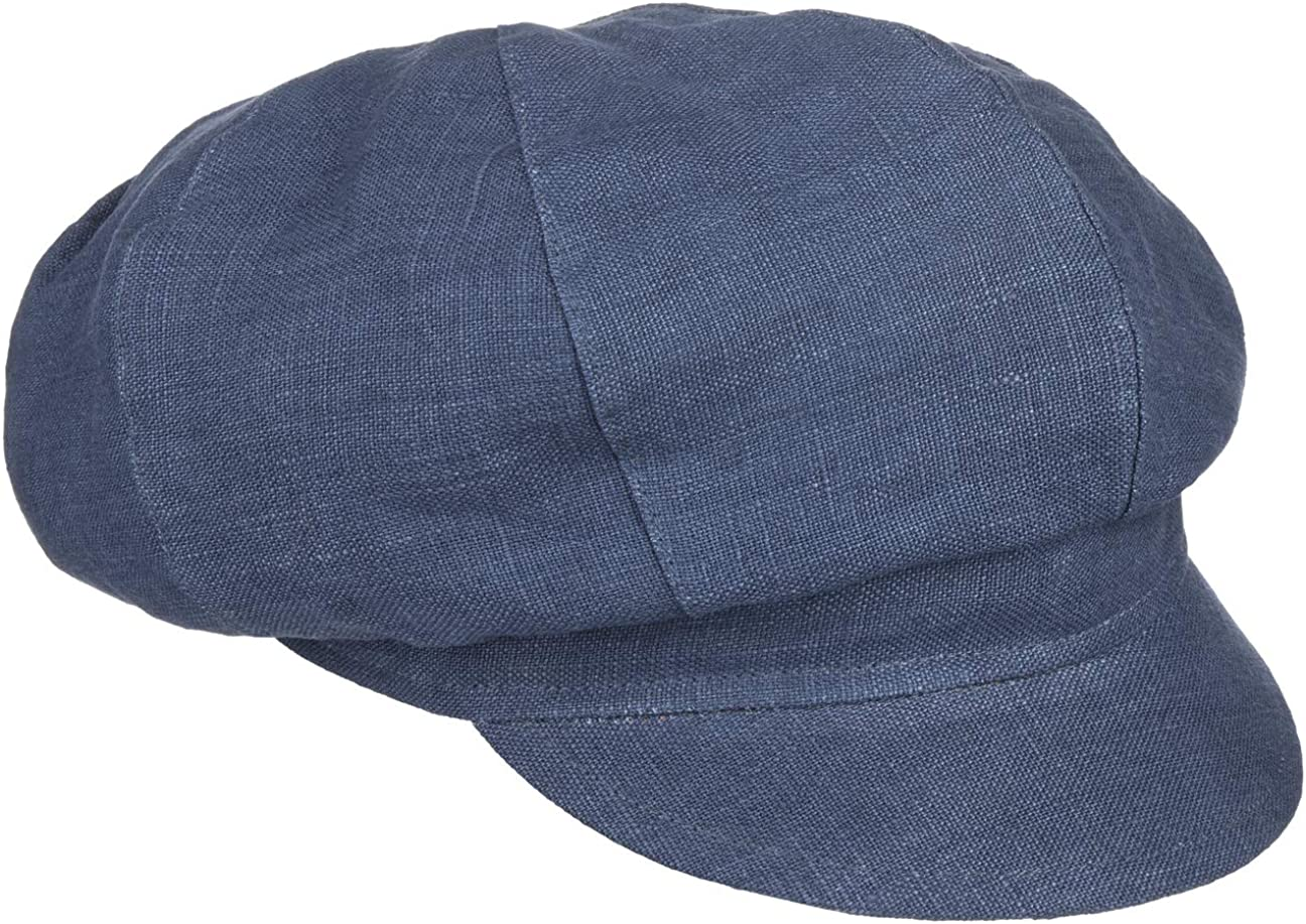 Bedacht Cheap mail order specialty store Spring new work one after another Linen Newsboy Cap Women - in Made Italy
