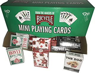 Bicycle Mini Holiday Decks with Display Total of 36 Decks Featuring Hoyle, Coca-Cola Santa and The Dog Holiday Editions
