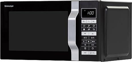 Sharp Home Appliances R860BK Encimera - Microondas (Encimera, Microondas combinado, 25 L, 900 W, Tocar, Negro)