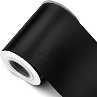 Humphrey's Craft Fabric Ribbon -Thick, Velvety Soft 4 Inch Wide Ribbon Non-Toxic Decorative Colorful Double Face Satin Ribbons for Crafts, Wedding Bouquet, Bridal Sashes-10 Yards/Roll (Black)