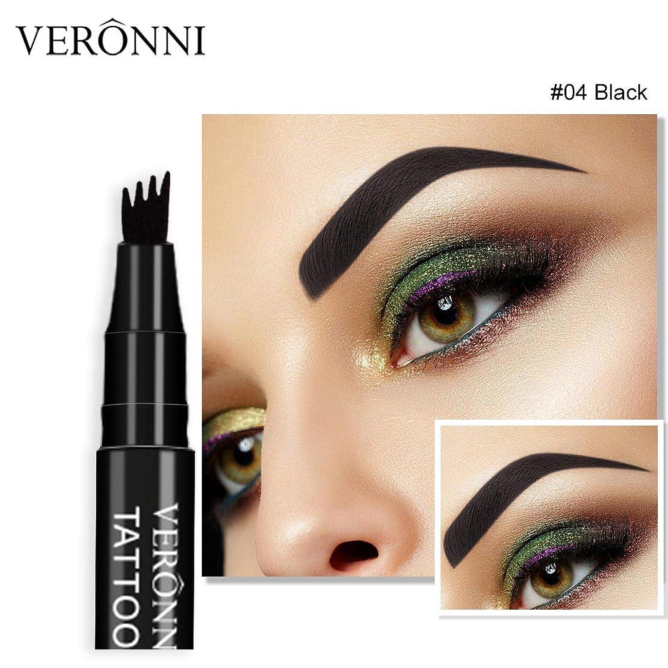 地元候補者起きる着色すること容易な咲かない永続的な液体の眉毛の鉛筆