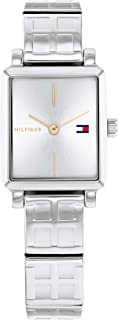 TOMMY HILFIGER TEA SQUARE WOMEN's SILVER WHITE DIAL WATCH - 1782327