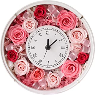 プリザーブドフラワー (ギフトラッピング付き/フラワークロック/ピンク) プレゼント お祝い [ 記念日 誕生日 ] アレンジ