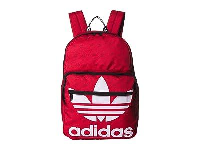 adidas Originals Originals Trefoil Pocket Backpack (Scarlet Monogram) Backpack Bags