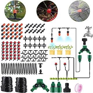 BORUIT 30M DIY Auto Drip Irrigation Kit- 100FT Irrigation Pipe, Irrigation Spray,Perfect Irrigation System Garden Watering...