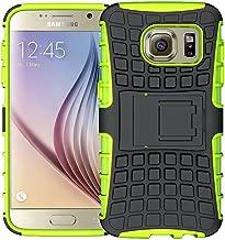 Samsung Galaxy S6 Protective Case, La Farah Rugged Armor Heavy Duty Phone Case with Kickstand,Protective Cover for Samsung Galaxy S6 (Green)