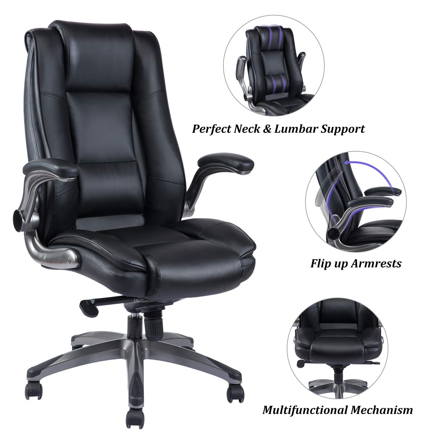 REFICCER Office Leather Executive Computer