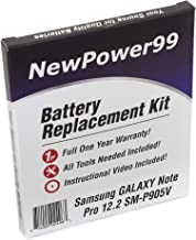 NewPower99 Battery Replacement Kit with Battery, Instructions and Tools for Samsung Galaxy Note PRO 12.2 SM-P905V