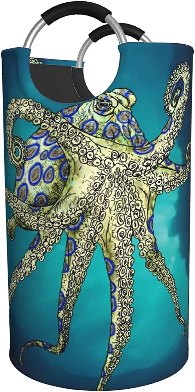 Blue Ringed Octopus Kansas City Mall Print Bag Waterproof 35% OFF Hamper Laundry