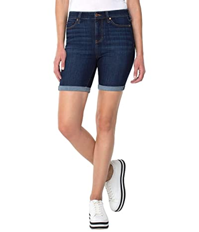 Liverpool Kristy High-Rise Shorts with Double Rolled Cuff in Dorsey