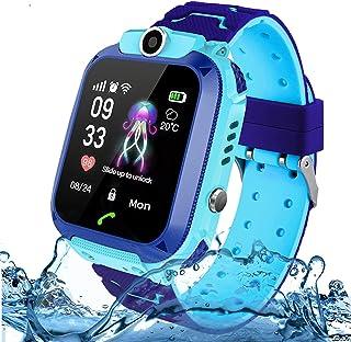 Kinderen Smart Horloge Waterdichte Telefoon, Jaybest IP67 LBS Tracker Smartwatch voor Kinderen SOS Sim-kaart met Camera, A...