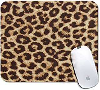 iNeworld Personalized Rectangle Mouse Pad- Printed Leopard Pattern Non-Slip Rubber Comfortable Customized Computer Mouse Pad (9.45x7.87inch)