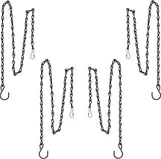 Best Outus Hanging Chain for Hanging Bird Feeders, Birdbaths, Planters and Lanterns, 4 Pack (35 Inch, Black) Review