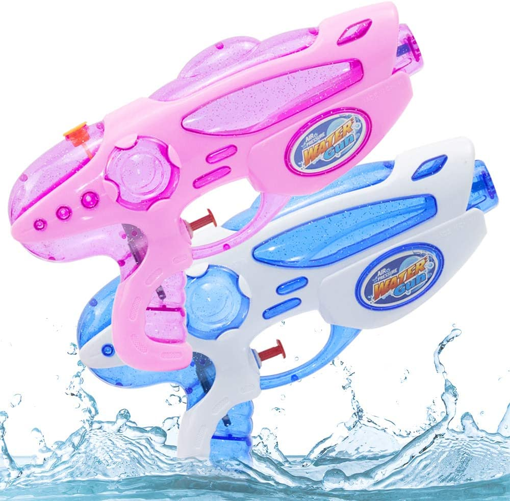 Zaloife Pistola de Agua Juguete de los Niños Water Pistol para Batalla Jardín Juguete Rociador Fiestas de Verano al Aire Libre Infantil Batalla de Agua, Playa, Piscina, 2 Pack