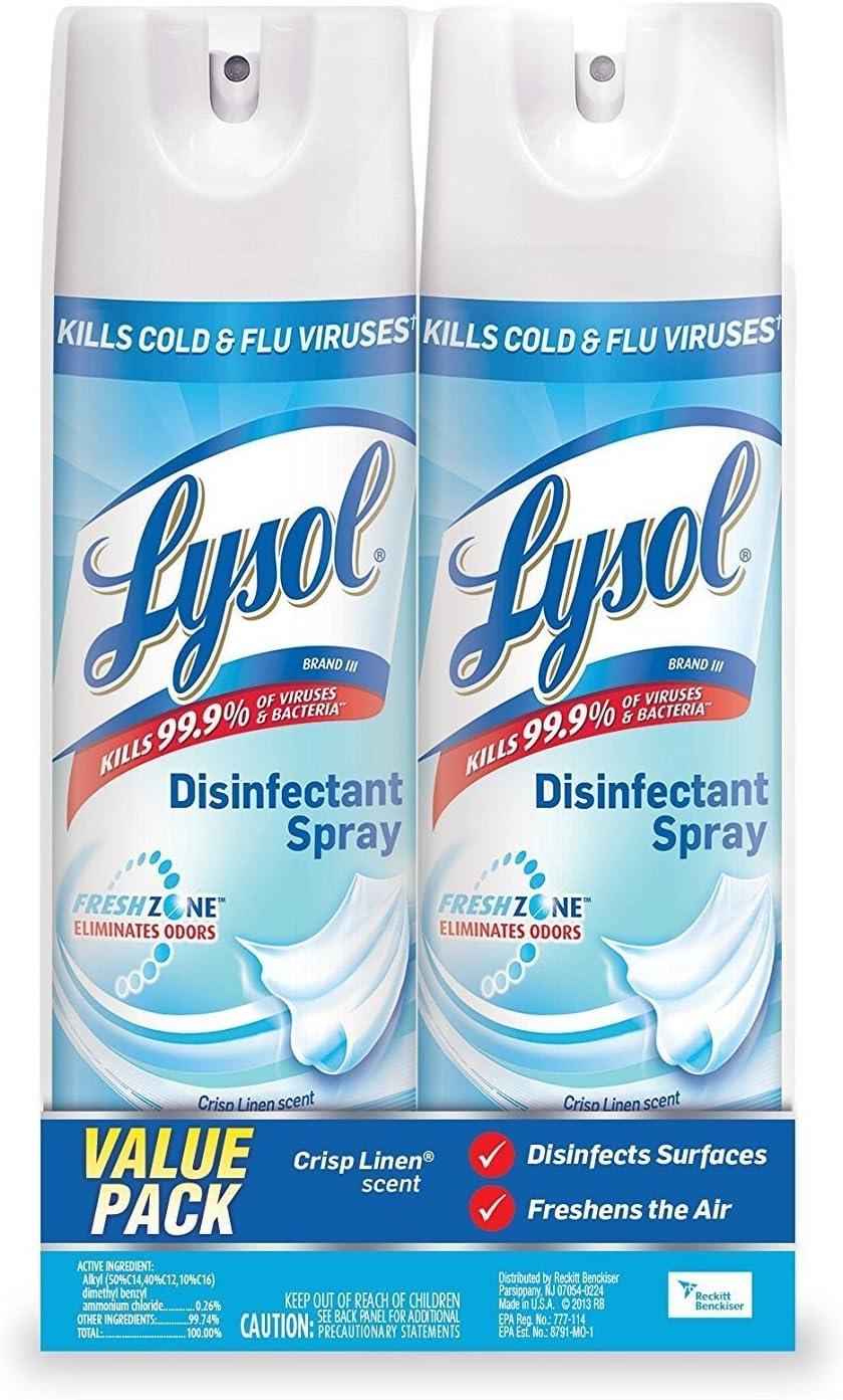 Lysol Crisp Linen Spray PACK blue Ranking TOP14 Superior 4