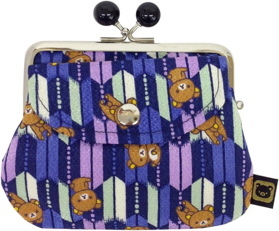 Rilakkuma Yagasuri Pattern / beads purse parent and child purse