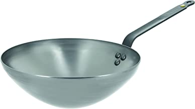 De Buyer 5618.28 Carbon Steel Wok, Medium, Metallic