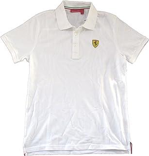 Ferrari Classic SF Crest Logo White Polo Shirt