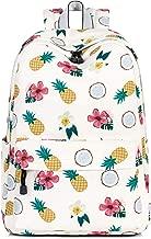 Leaper Pineapple Laptop Backpack Girls School Bookbags College Bags Beige