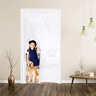 掃き出し用断熱カーテン 窓防寒カーテン マグネット式 夏冬兼用 エコ157*206(採光タイプ)半透明